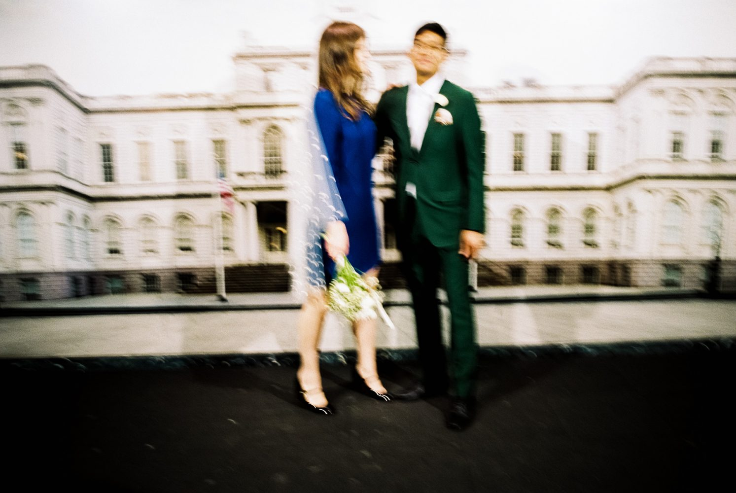NYC City Hall wedding waiting ONONA New York wedding photographer film