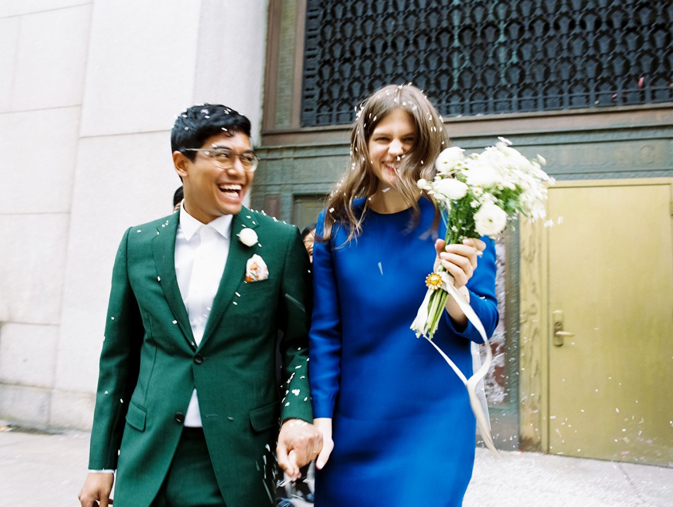 Bride and Groom NYC City Hall ONONA New York wedding photographer film