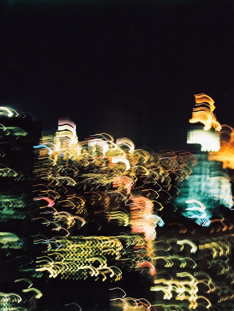 Manhattan at night ONONA New York wedding photographer film