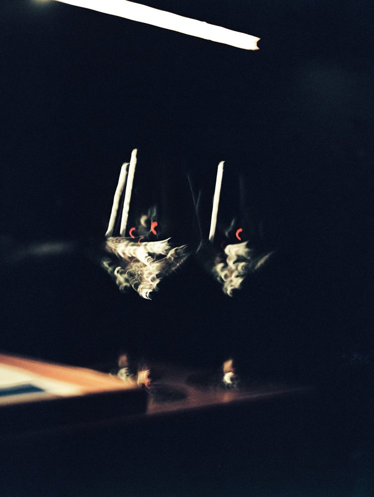 wine glasses Cosme NYC ONONA New York wedding photographer film