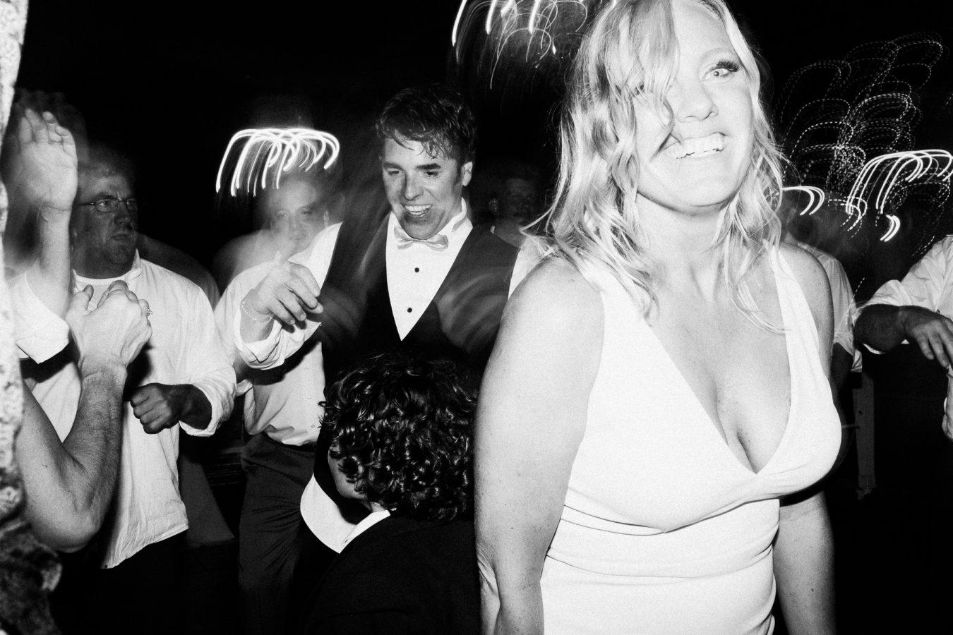 Bar Lurcat wedding, dancing black and white photo, Minneapolis | ONONA Minneapolis non traditional wedding photographer