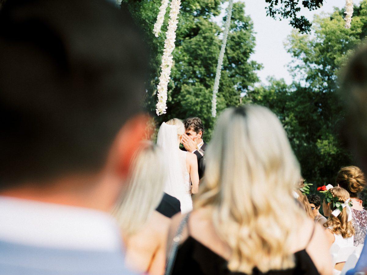 Billy and Genna, wedding ceremony in Loring Park, Minneapolis, wedding at Bar Lurcat, Minneapolis | ONONA Minneapolis film wedding photographer